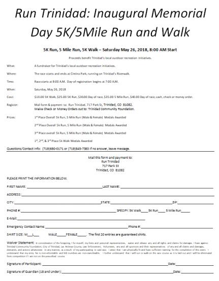 Run Trinidad Registration Form